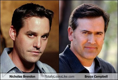 Nicholas Brendon totally looks like Bruce Campbell