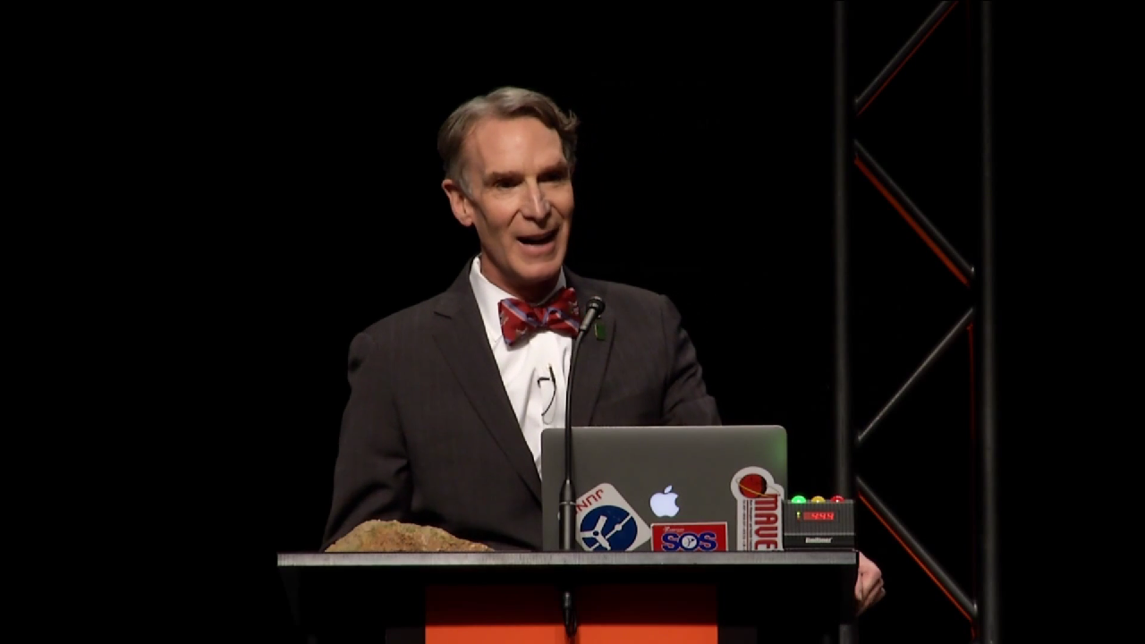 Bill Nye has major flair.