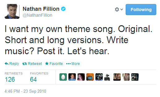 Nathan Fillion theme song request