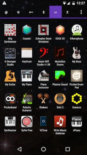 Tabbed app drawer of Nova Launcher Prime
